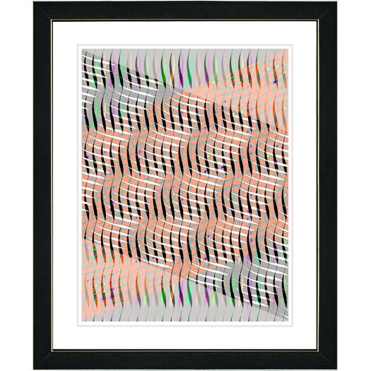 "Studio Works Modern ""Pastel Placidus - Orange"" by Zhee Singer Framed Fine Art Giclee Painting Print"