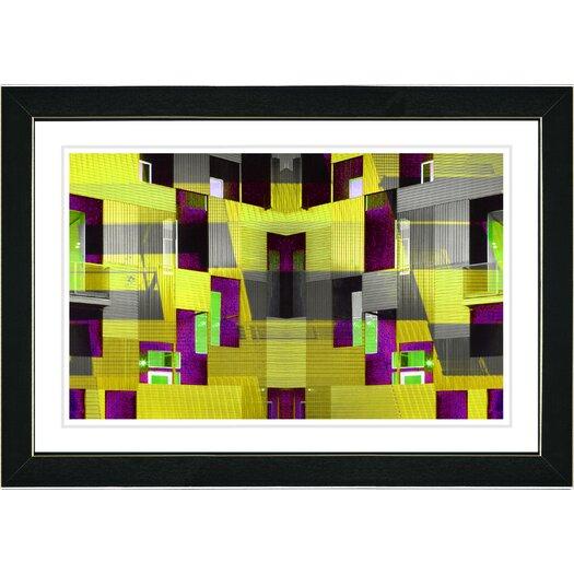 "Studio Works Modern ""Atrium Labyrinth"" by Zhee Singer Framed Fine Art Giclee Painting Print"
