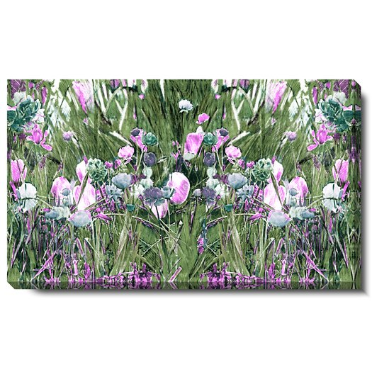 """Studio Works Modern """"Spring Garden Bloom"""" Gallery Wrapped by Zhee Singer Painting Print on Canvas"""