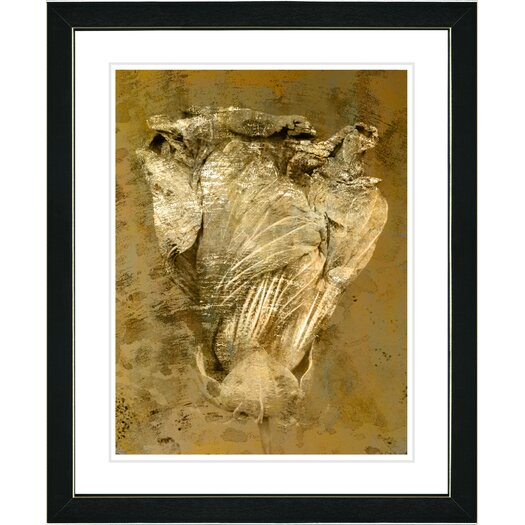 "Studio Works Modern ""Dancing Bud"" by Zhee Singer Framed Fine Art Giclee Painting Print"