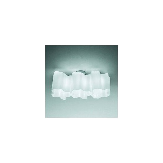 Artemide Logico Mini Triple Linear Semi Flush Mount