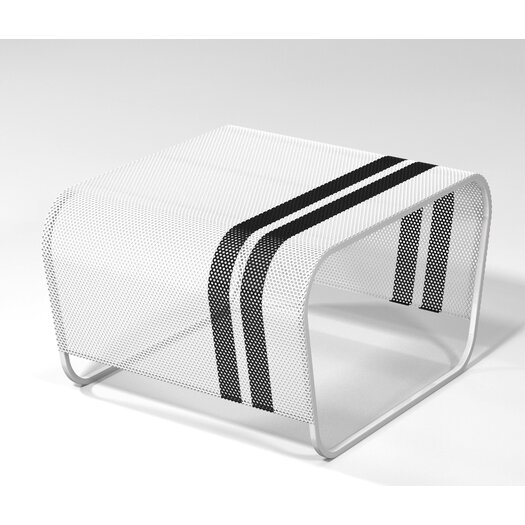 Markamoderna Lami Perforated Stainless Steel Side Table