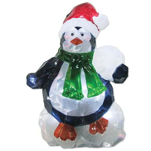 Brite Star LED Icy Penguin Lawn Silhouette Christmas Decoration