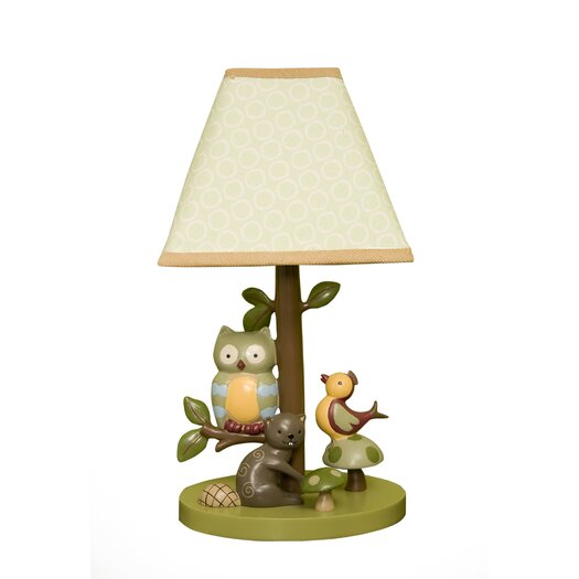 "Lambs & Ivy Enchanted Forest 11.75"" H Table Lamp with Empire Shade"