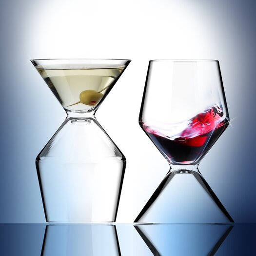 AdNArt VinoTini Wine and Martini Glass
