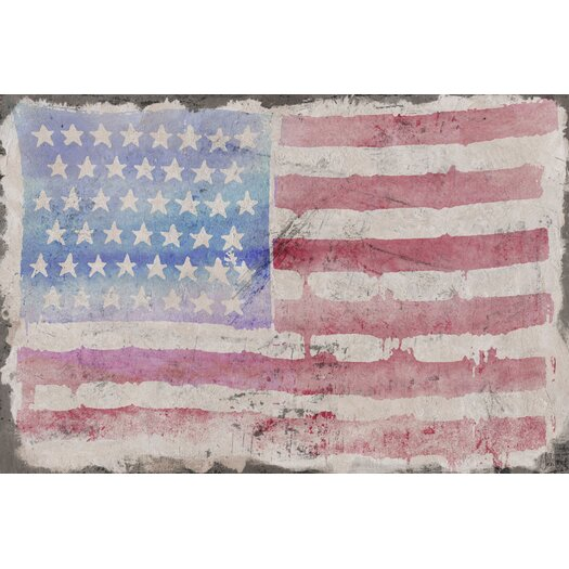 Marmont Hill American Beauty Painting Print on Wrapped Canvas