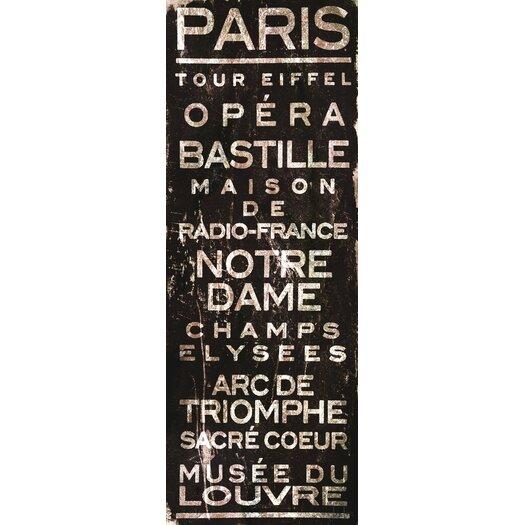 Marmont Hill Paris Textual Art on Wrapped Canvas