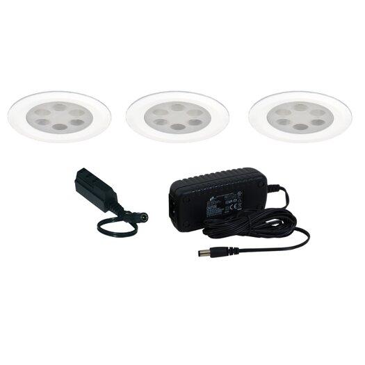 Jesco Lighting Slim Disk LED 3 Light Fixed Round Kit