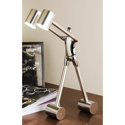 "Man2Max Be Open To Learn 18"" H Table Lamp with Drum Shade"