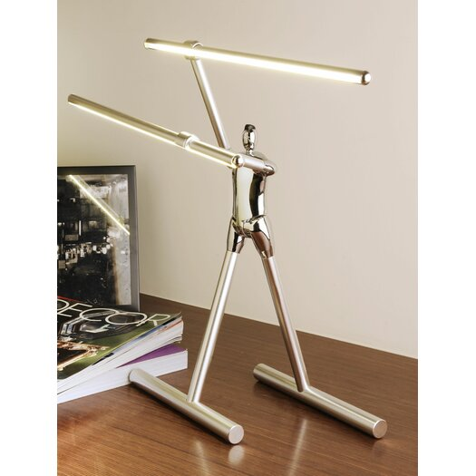 """Man2Max Commitment Artistic LED 15"""" H Table Lamp"""