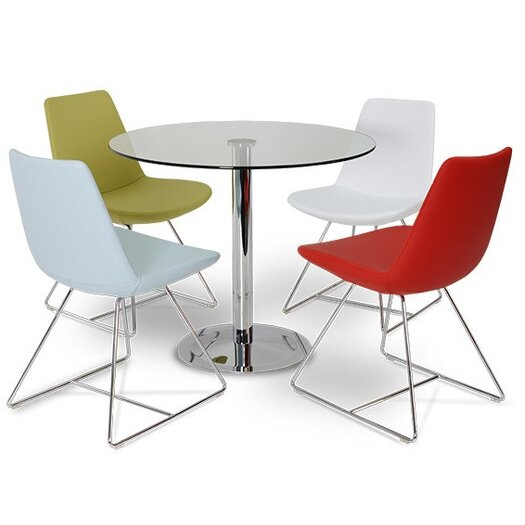Pera Eco Lethaer Side Chair