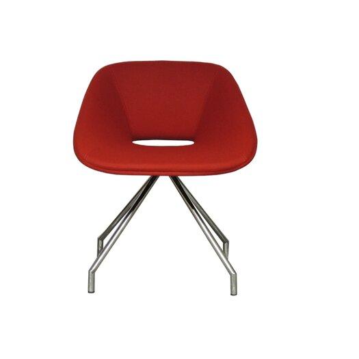 Red Swivel Camira Wool Side Chair