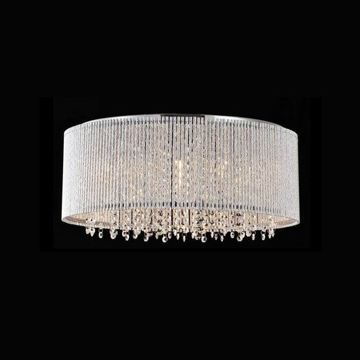 Bromi Design Crystalline 10 Light Crystals Chandelier