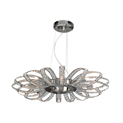 Bromi Design Brilliance 8 Light Crystal Chandelier