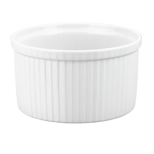 Pillivuyt Pleated Deep Souffle Dish, 4.5 cup