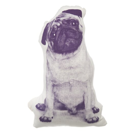 Areaware MINI Pug Throw Pillow