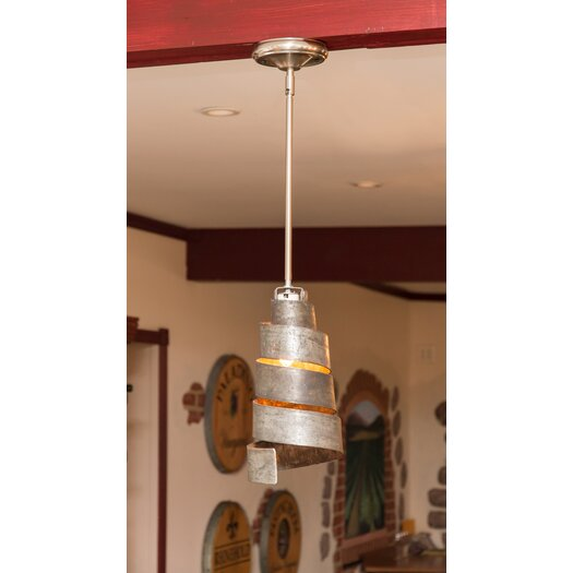 Napa East Collection Wine Hoop 1 Light Mini Pendant