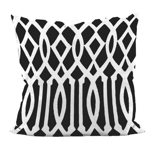 e by design Trellis Decorative Throw Pillow
