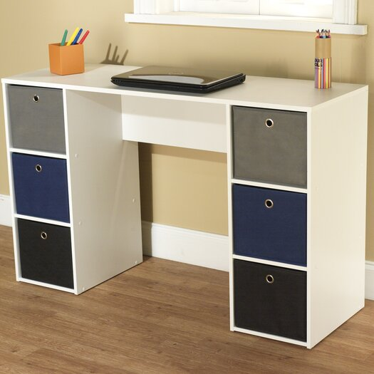 TMS Writing Desk with 6 Bins