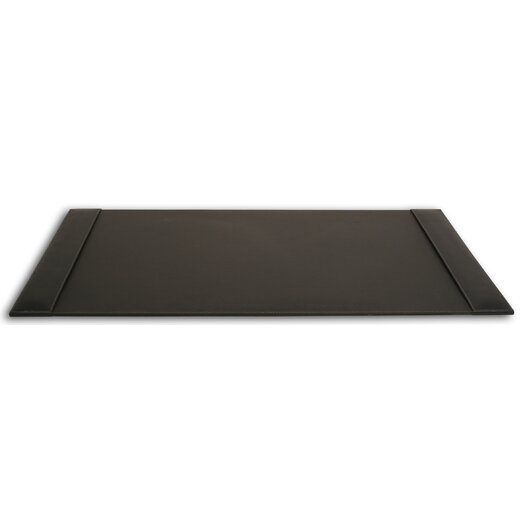 Dacasso 3200 Series Rustic Leather 34 x 20 Side-Rail Desk Pad in Rustic Black