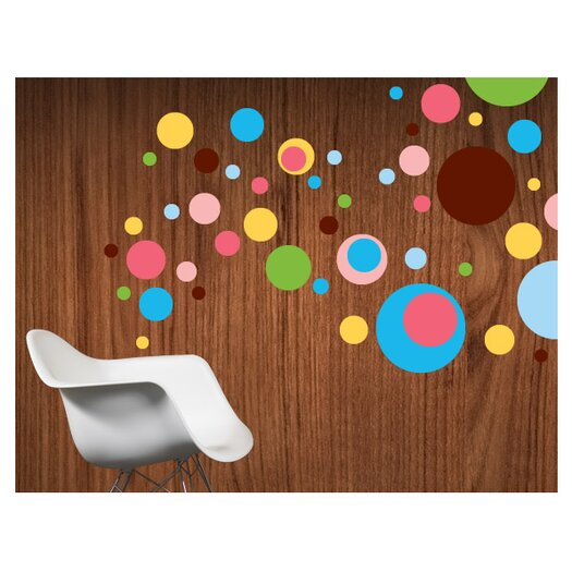 WallCandy Arts Dottilicious Removable Wall Decal