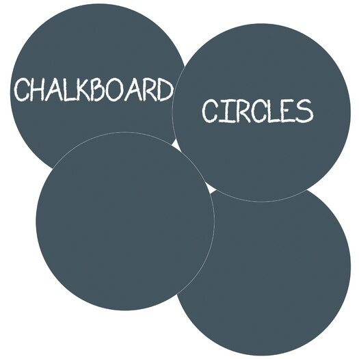 WallCandy Arts Circles Removable Chalkboard Wall Decal