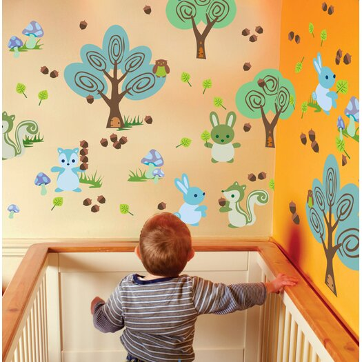 WallCandy Arts Nature Forest Friends Wall Decal