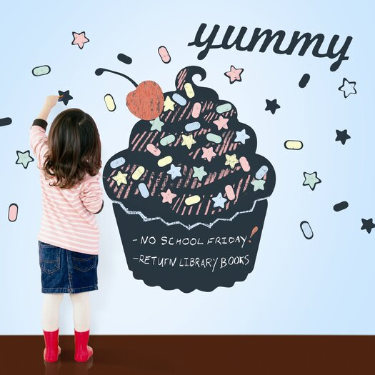 WallCandy Arts Cupcake Chalkboard Wall Decal