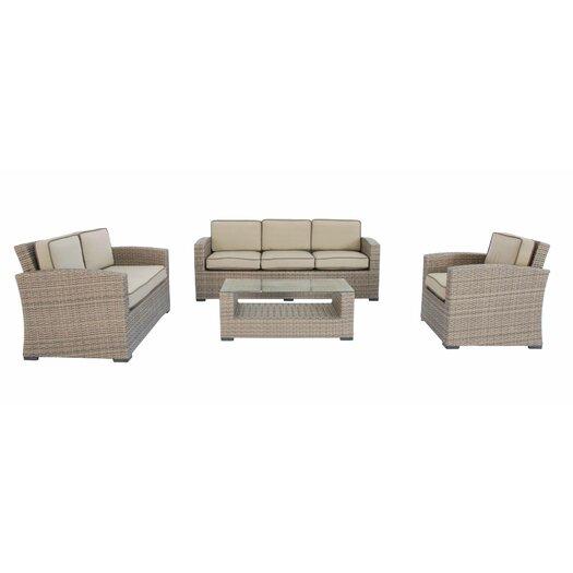 Creative Living Ferrara 4 Piece Deep Seating Group with Cushions