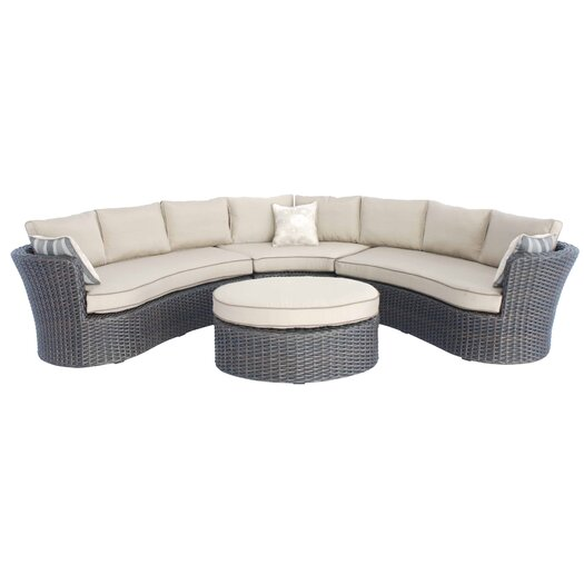 Creative Living Antigua 4 Piece Sectional Deep Seating Group with Cushions