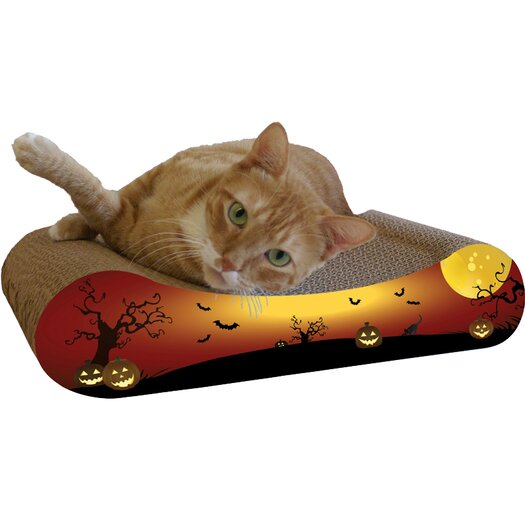 Imperial Cat Scratch 'n Shapes Pumpkin Recycled Paper Scratching Board