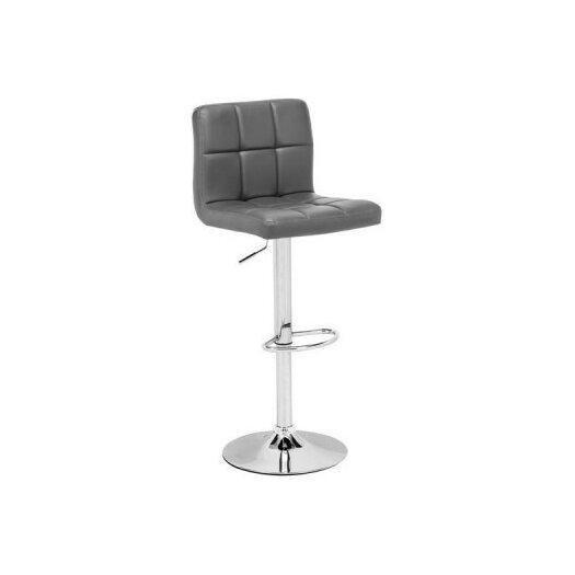 Nuevo Rome Adjustable Height Swivel Bar Stool With Cushion