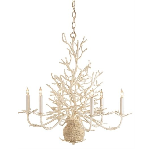 Currey & Company Seaward 6 Light Candle Chandelier