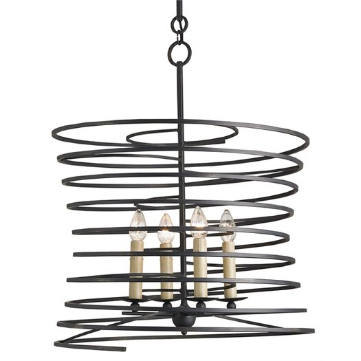 Currey & Company Nebula 4 Light Candle Chandelier