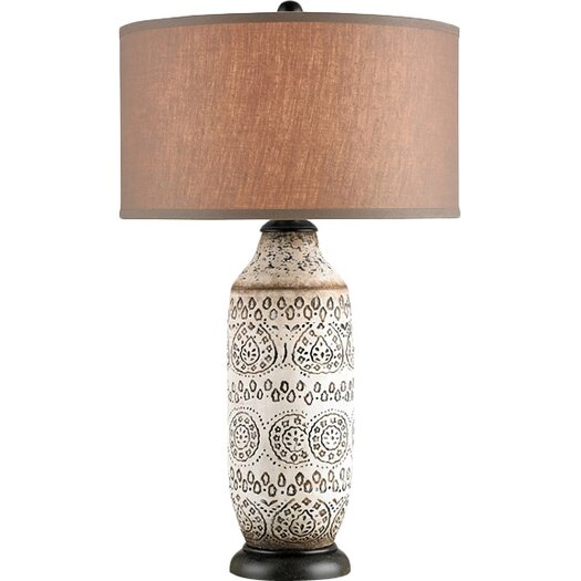 "Currey & Company Intarsia 31"" H Table Lamp with Drum Shade"