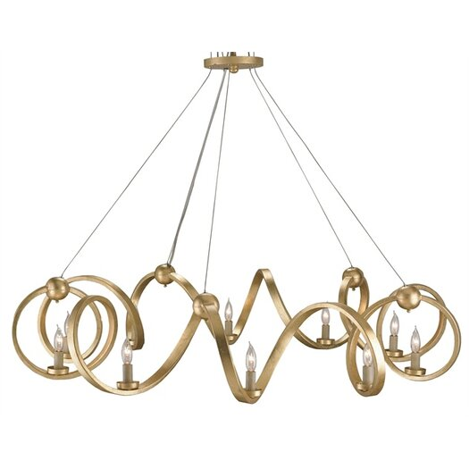 Currey & Company Ringmaster 10 Light Candle Chandelier