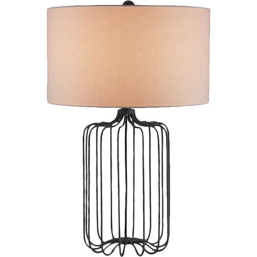 """Currey & Company Furlong 28"""" H Table Lamp with Drum Shade"""