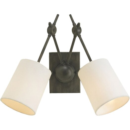 Currey & Company Compass 2 Light Wall Sconce