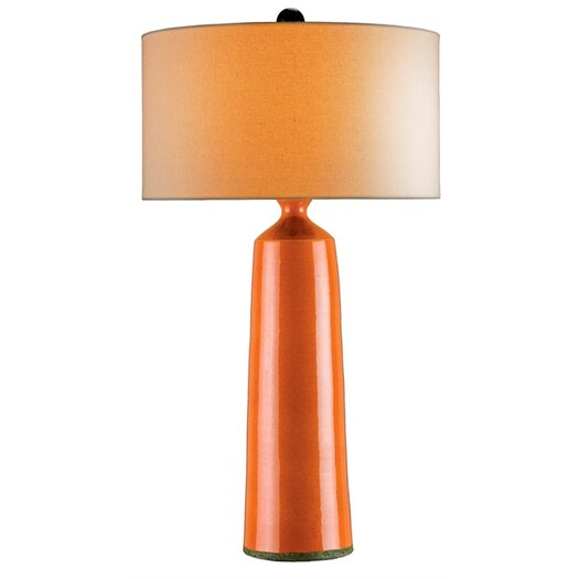 """Currey & Company Prideaux 35"""" H Table Lamp with Drum Shade"""