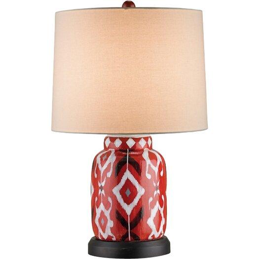 "Currey & Company Safari 26"" H Table Lamp with Drum Shade"