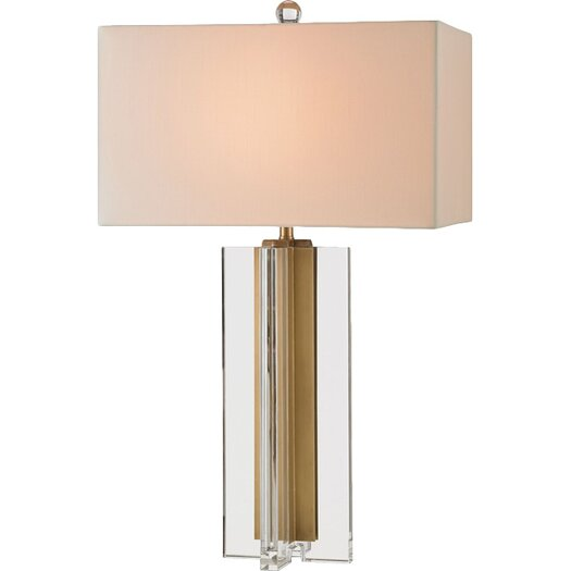 "Currey & Company Skye 30"" H Table Lamp with Rectangular Shade"