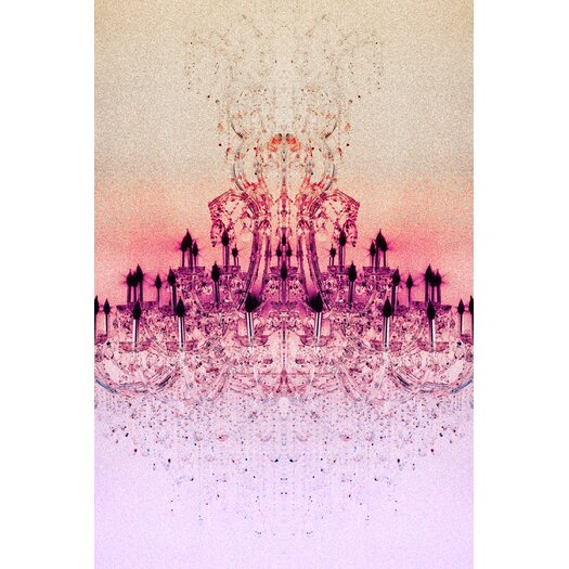 Chrystal Light Rose Graphic Art on Canvas