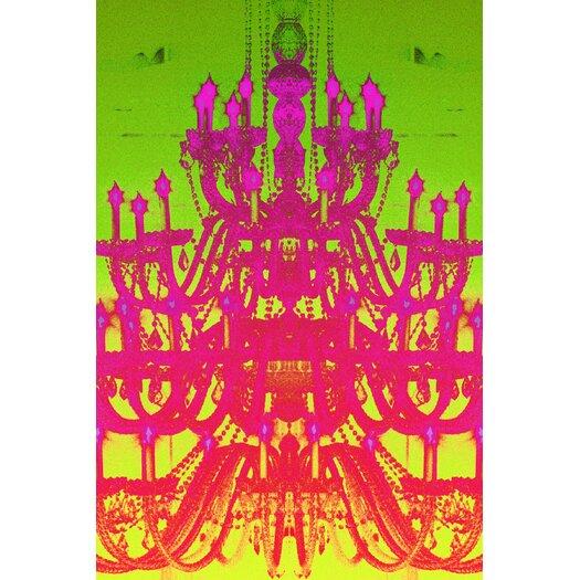 Tower of Light Neon Rainbow Graphic Art on Canvas