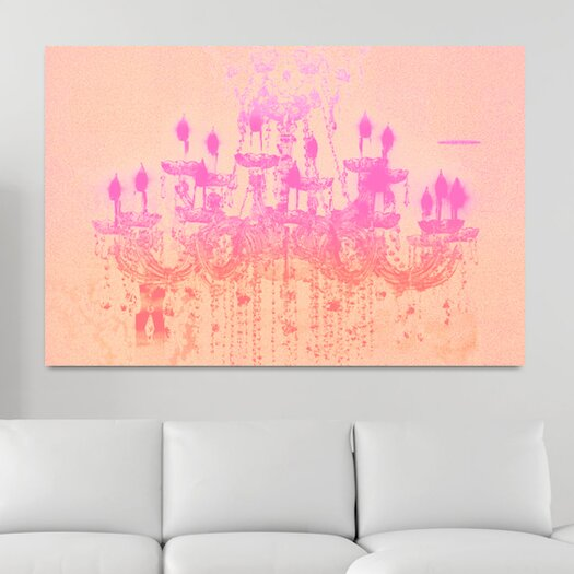Liquid Chandelier Rose Pastel Graphic Art on Canvas
