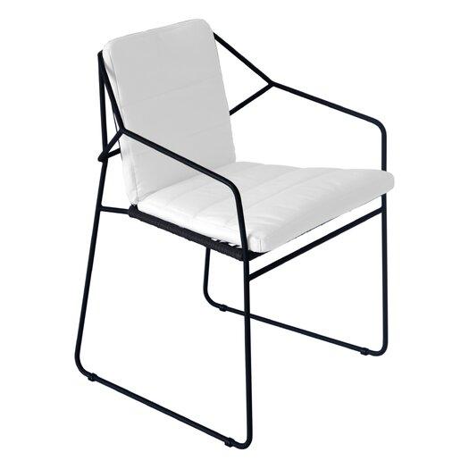 OASIQ Sandur Stacking Dining Arm Chair with Cushion
