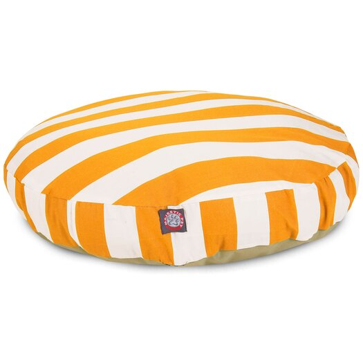 Majestic Pet Products Vertical Stripe Round Pet Bed
