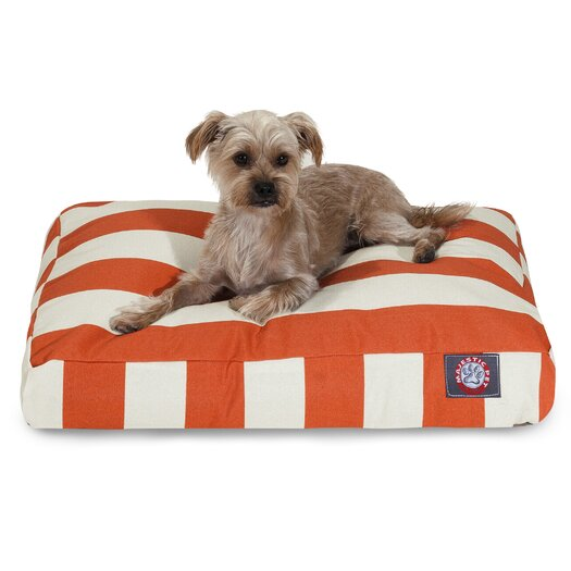 Majestic Pet Products Vertical Stripe Pillow Dog Bed