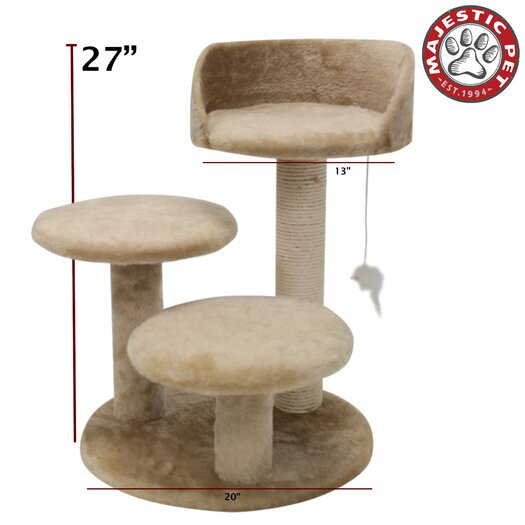 "Majestic Pet Products 27"" Casita Fur Cat Perch"