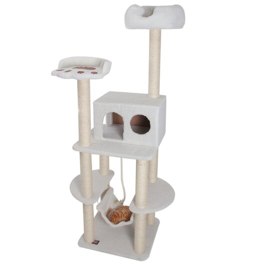 """Majestic Pet Products 76"""" Bungalow Sherpa Cat Tree"""