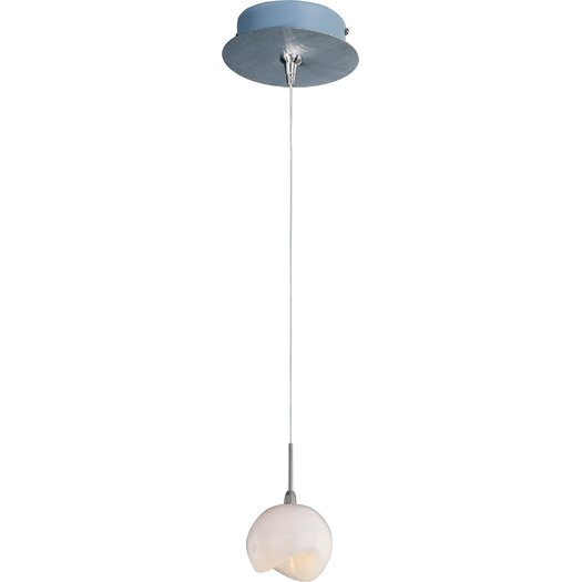 ET2 Opal White 1-Light RapidJack Pendant and Canopy